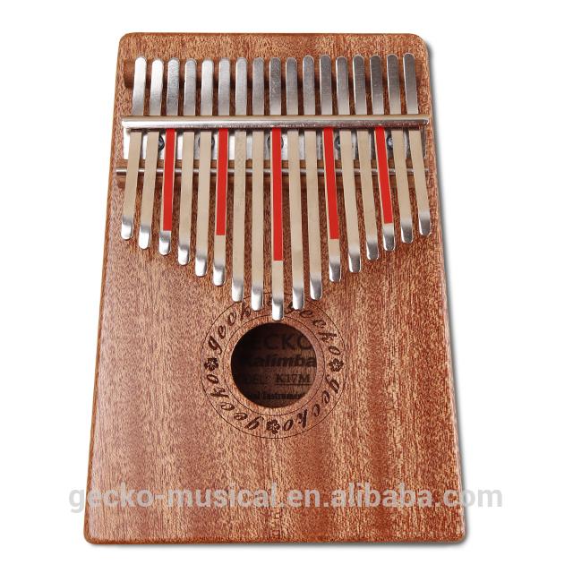 Wholesale Price Mahogany Wood 17 Notes Kalimba - gecko natural wood professional 17 keys kalimba – GECKO