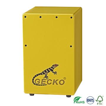 GECKO Percussion Hand colour children Cajon drum wooden box