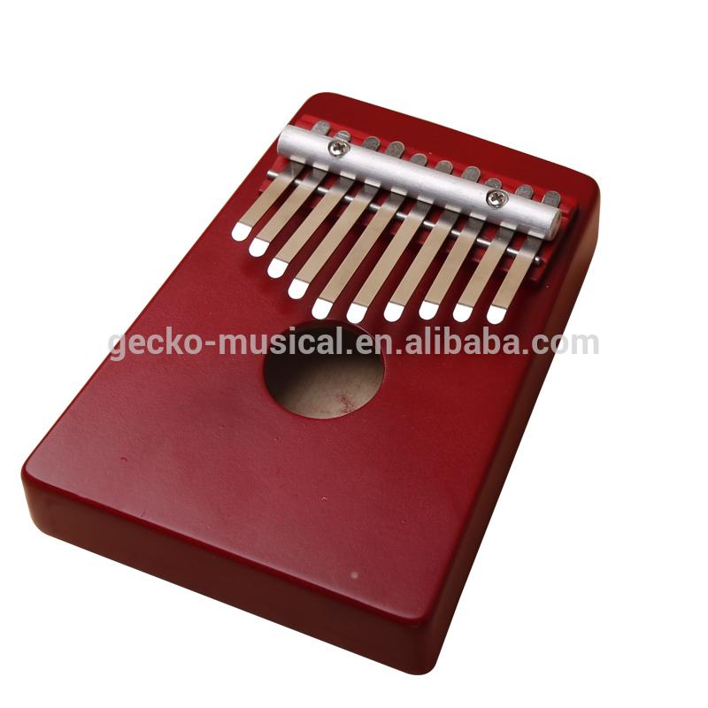 Gecko portable Red 10 Keys African Original Kalimba