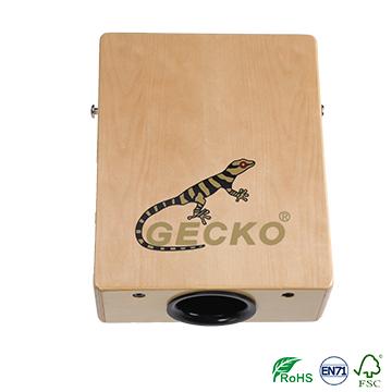 gecko travelling cajon,natural brich wooden cajon
