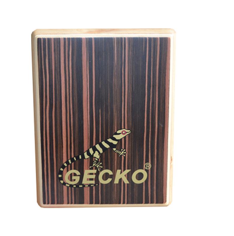 hand box drum cajon percussion GECKO brand veined ebony