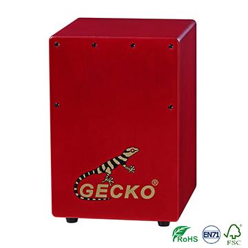 Handmade high quality Cajon Percussion Box Hand Drum red color