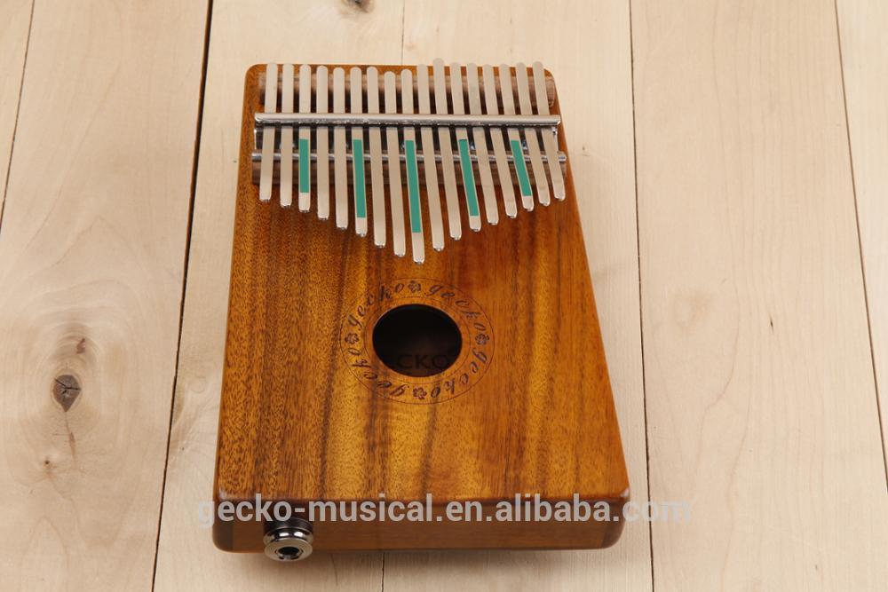 High class 17 Key EQ Kalimba gecko professional thumb piano wood kalimba