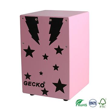 jazz music cajon drum sets,promotional pink color star design for children