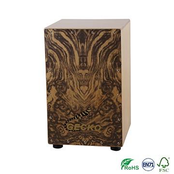 Manufacturer cajon box drum pad birch wood made music box