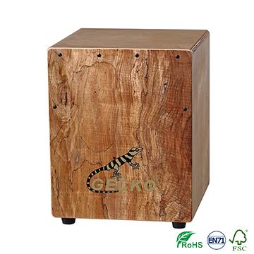 Mini Cajon drum birch wood musical box,percussion drum set