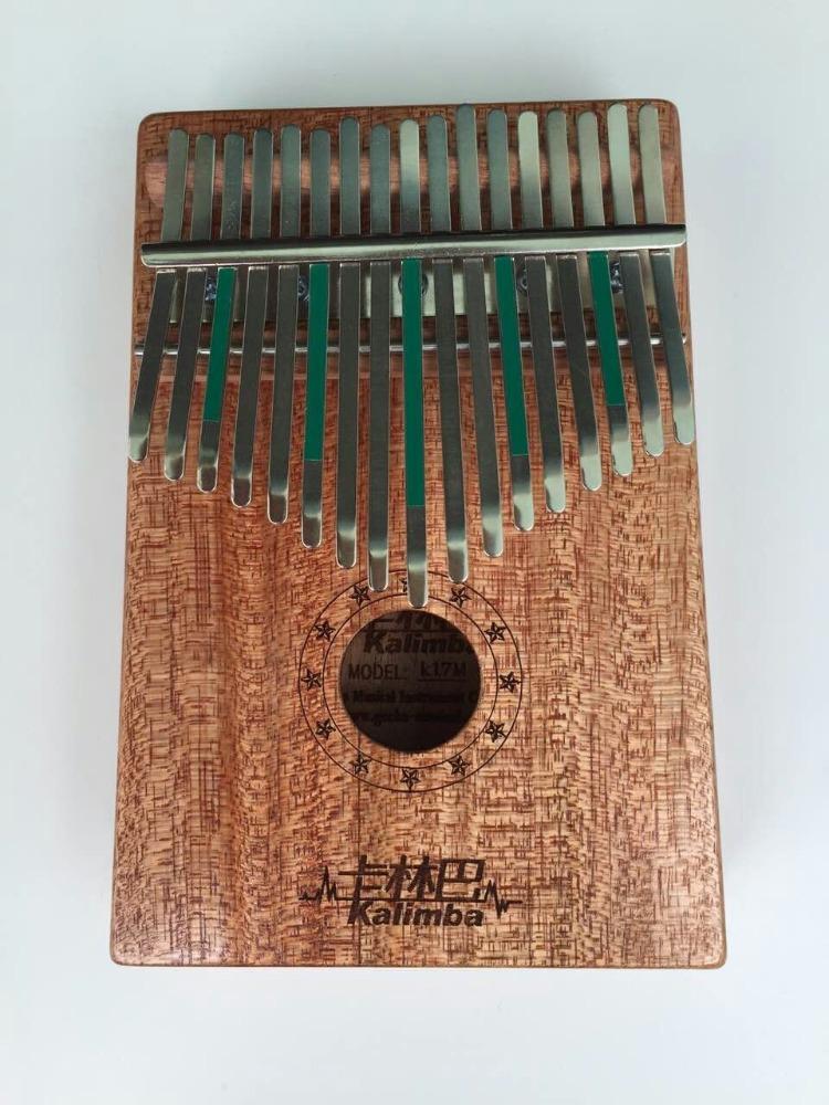 Natural 17 carbon steel Keys Kalimba Mbira Thumb Piano Traditional Musical Instrument Portable rosewood/bubinga