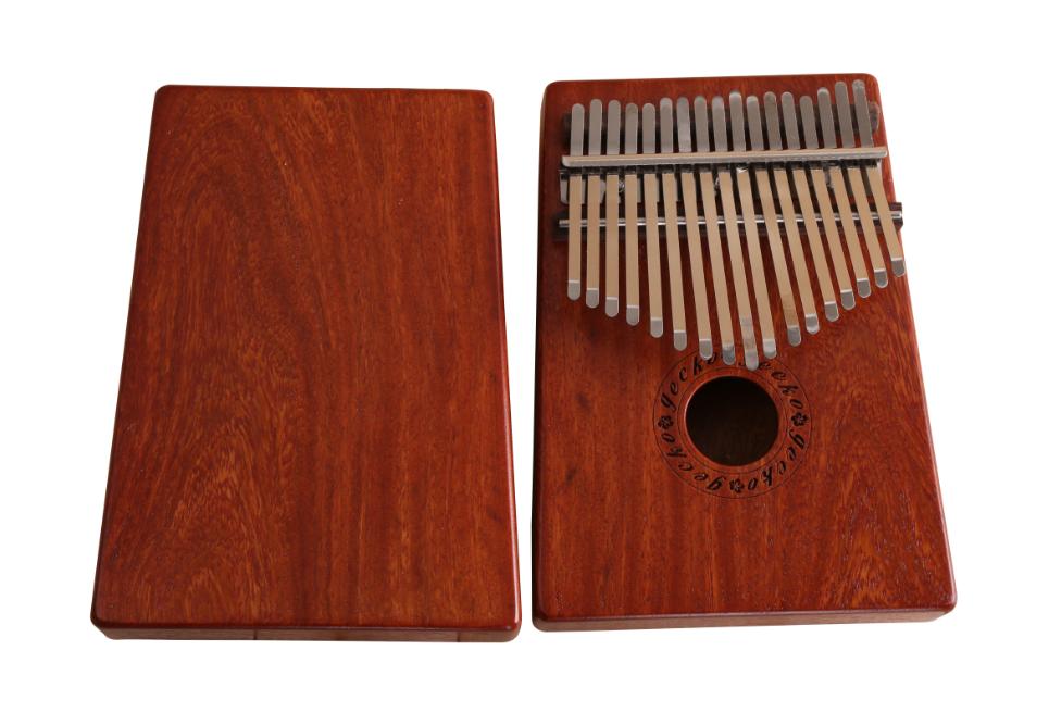 Natural 17 Keys Kalimba Mbira Thumb Piano Traditional Musical Instrument Portable rosewood/bubinga