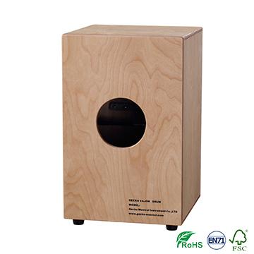 natural wooden latin percussion cajon box drum
