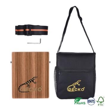 Hot New Products Electric Black Guitar Capo - pad/travelling cajon,sunburst/red color brich wooden cajon – GECKO