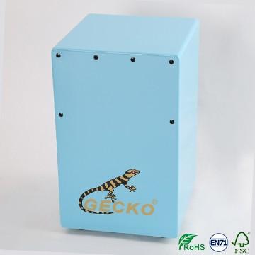 Promotional sale blue cartoon style cajon drum box for children