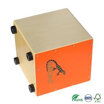 Smaller Size Cajon Drum Bright Orange Color for Kid