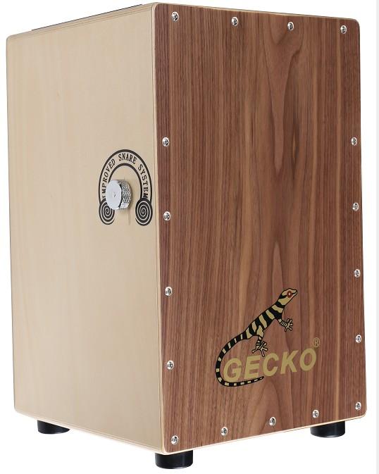 Wholesale Price China Strap For Ukulele - Tapping music wooden cajon box made with walnut wood surrounding sound – GECKO